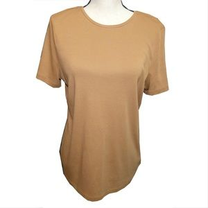 Talbots Top/ Brown/large/ Pima Cotton